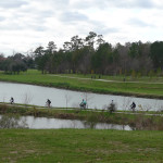 Cyclists on Bayou Trail